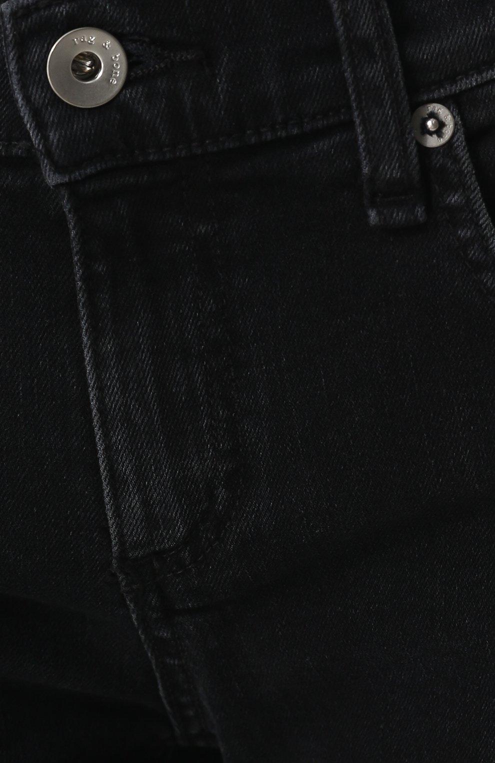 Женские укороченные джинсы прямого кроя с потертостями RAG&BONE серого цвета, арт. W2592K502KUR | Фото 5