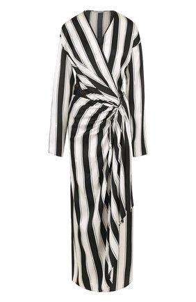 Платье из вискозы с драпировкой | Фото №1