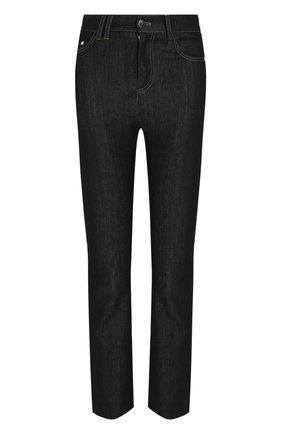Укороченные джинсы прямого кроя | Фото №1