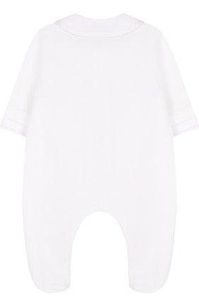 Детский хлопковый комбинезон с декором ALETTA белого цвета, арт. R88523/1M-18M | Фото 2