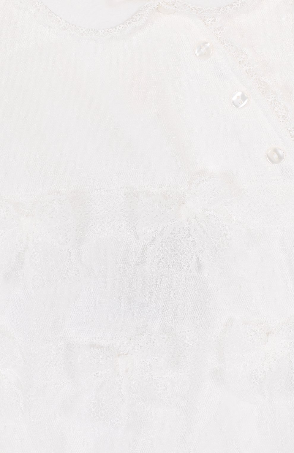 Хлопковый песочник с кружевной отделкой | Фото №3