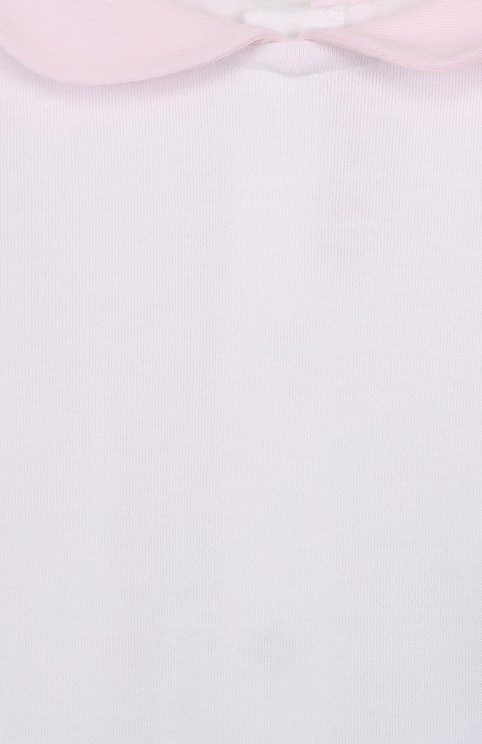 Хлопковый комплект из брюк с лонгсливом и кардиганом | Фото №4
