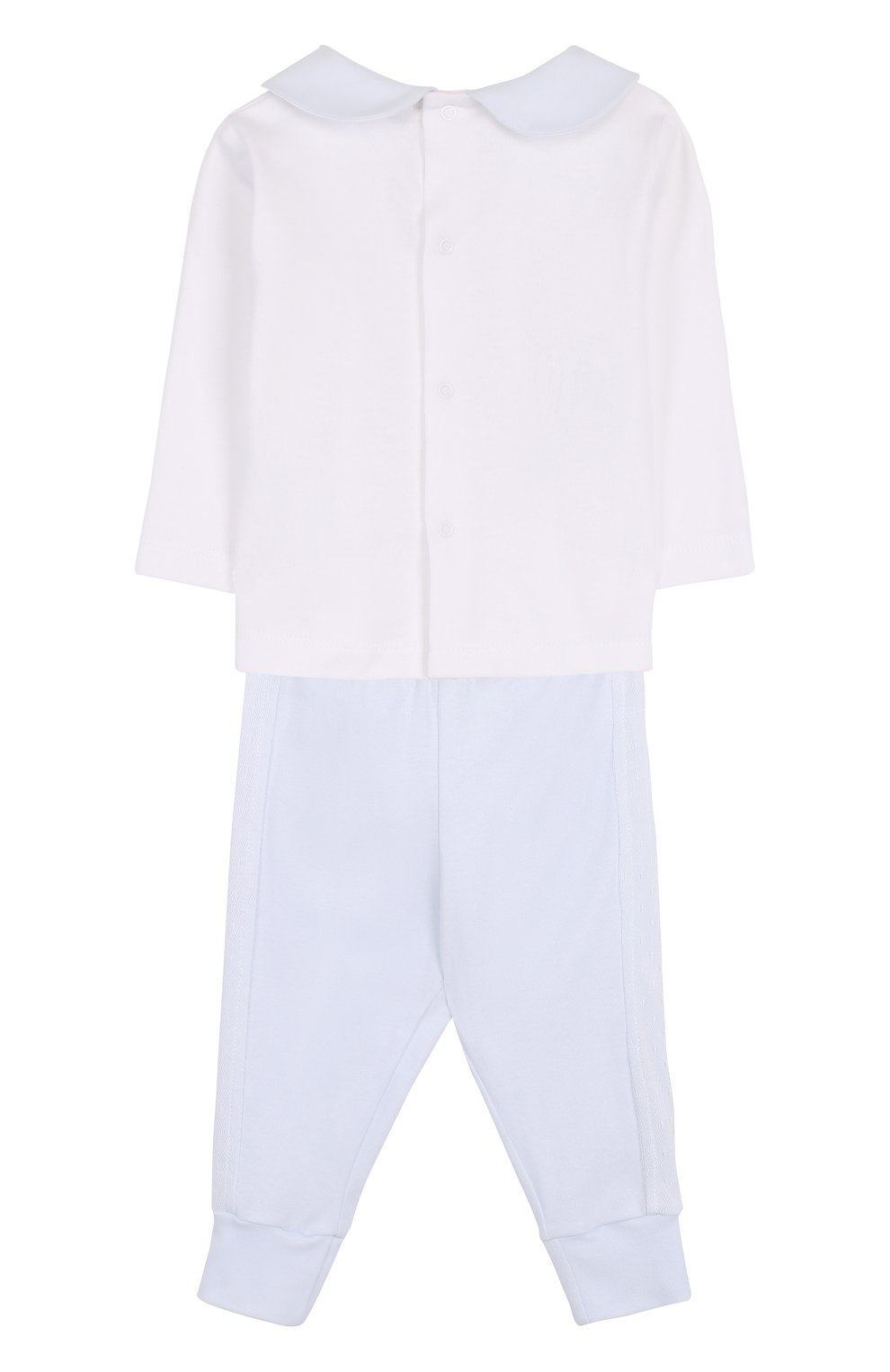 Детский хлопковый комплект из брюк с лонгсливом и кардиганом ALETTA голубого цвета, арт. RB88378/1M-18M | Фото 3