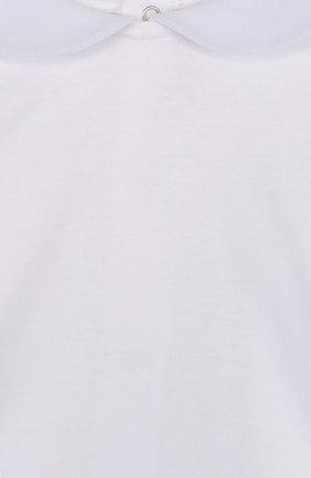 Детский хлопковый комплект из брюк с лонгсливом и кардиганом ALETTA голубого цвета, арт. RB88378/1M-18M | Фото 4