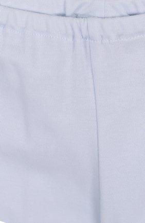 Детский хлопковый комплект из брюк с лонгсливом и кардиганом ALETTA голубого цвета, арт. RB88378/1M-18M | Фото 5