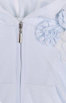 Детский хлопковый комплект из брюк с лонгсливом и кардиганом ALETTA голубого цвета, арт. RB88378/1M-18M | Фото 8