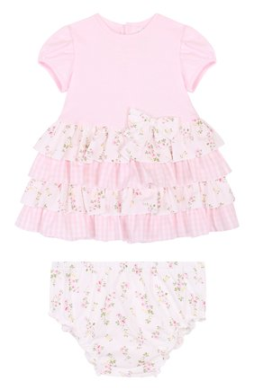 Женская комплект из платья и трусов ALETTA розового цвета, арт. RR88495/1M-18M | Фото 1