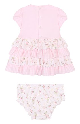 Женская комплект из платья и трусов ALETTA розового цвета, арт. RR88495/1M-18M | Фото 2