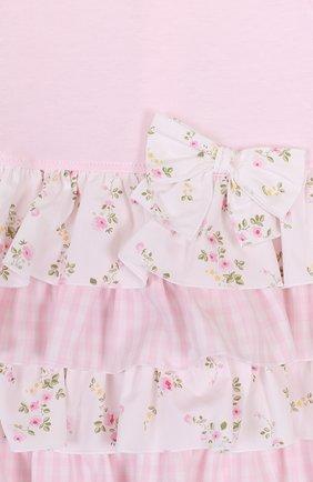 Женская комплект из платья и трусов ALETTA розового цвета, арт. RR88495/1M-18M | Фото 3
