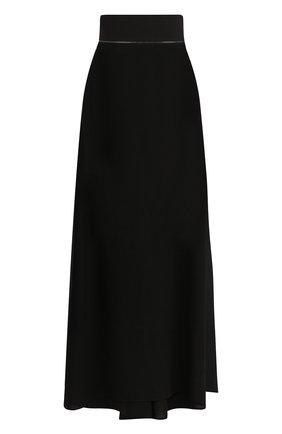Однотонная юбка-макси с подолом | Фото №1