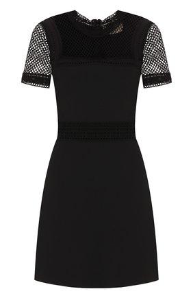 Приталенное мини-платье с коротким рукавом | Фото №1
