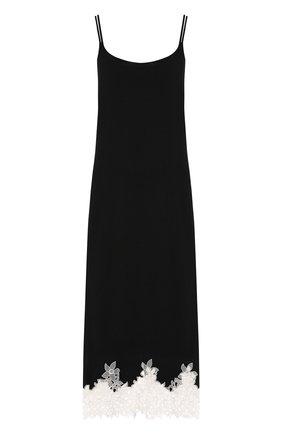 Сорочка из вискозы с кружевной отделкой Gianantonio Paladini черная | Фото №1