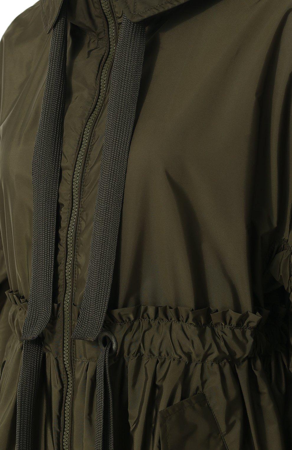 Женская однотонная парка свободного кроя с капюшоном MONCLER хаки цвета, арт. D1-093-49037-05-54155 | Фото 5