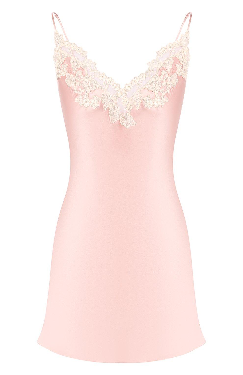 Женская шелковая сорочка LA PERLA розового цвета, арт. 0019227   Фото 1