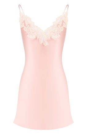 Женская шелковая сорочка LA PERLA розового цвета, арт. 0019227 | Фото 1