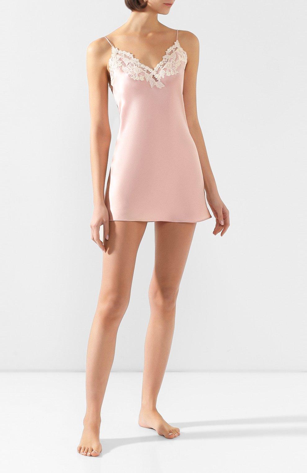 Женская шелковая сорочка LA PERLA розового цвета, арт. 0019227   Фото 2