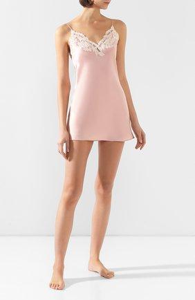 Женская шелковая сорочка LA PERLA розового цвета, арт. 0019227 | Фото 2