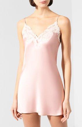 Женская шелковая сорочка LA PERLA розового цвета, арт. 0019227   Фото 3