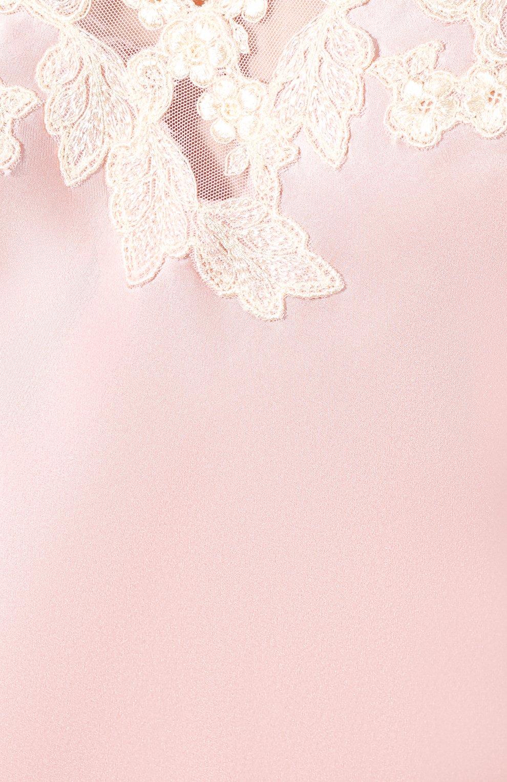 Женская шелковая сорочка LA PERLA розового цвета, арт. 0019227   Фото 5