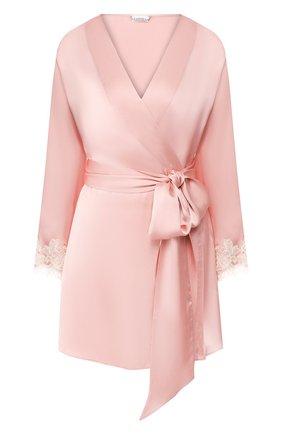 Женский шелковый халат LA PERLA розового цвета, арт. 0019230 | Фото 1