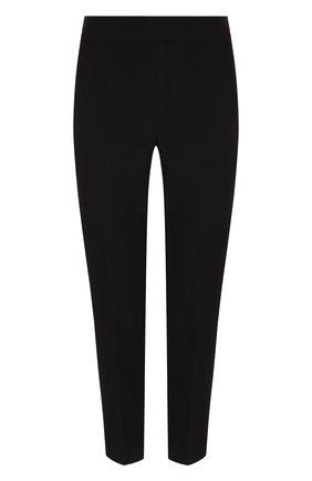 Женские укороченные однотонные брюки прямого кроя ST. JOHN черного цвета, арт. K84PW20 | Фото 1