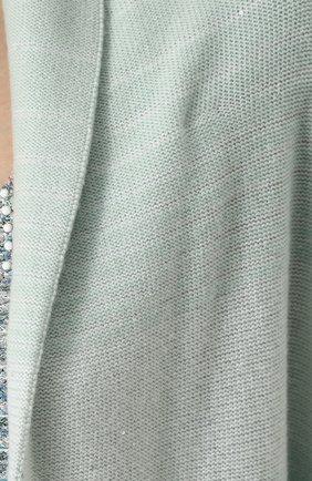 Кардиган свободного кроя из смеси кашемира и шелка St. John зеленый   Фото №5