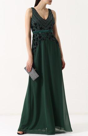 Приталенное платье-макси с вышивкой Basix Black Label светло-розовое | Фото №1