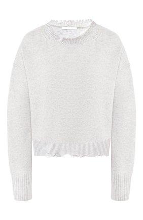 Женская пуловер из смеси шерсти и кашемира HELMUT LANG светло-серого цвета, арт. I01HW511 | Фото 1