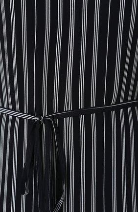 Женский приталенный комбинезон из вискозы с поясом RAG&BONE темно-синего цвета, арт. W282J12M6 | Фото 5