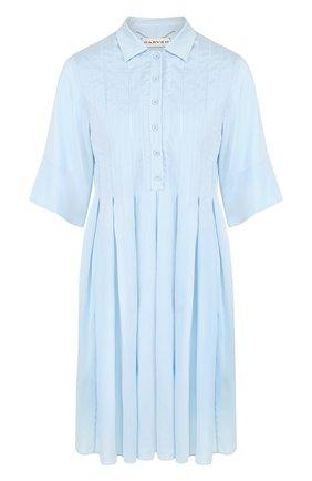 Приталенное шелковое мини-платье | Фото №1