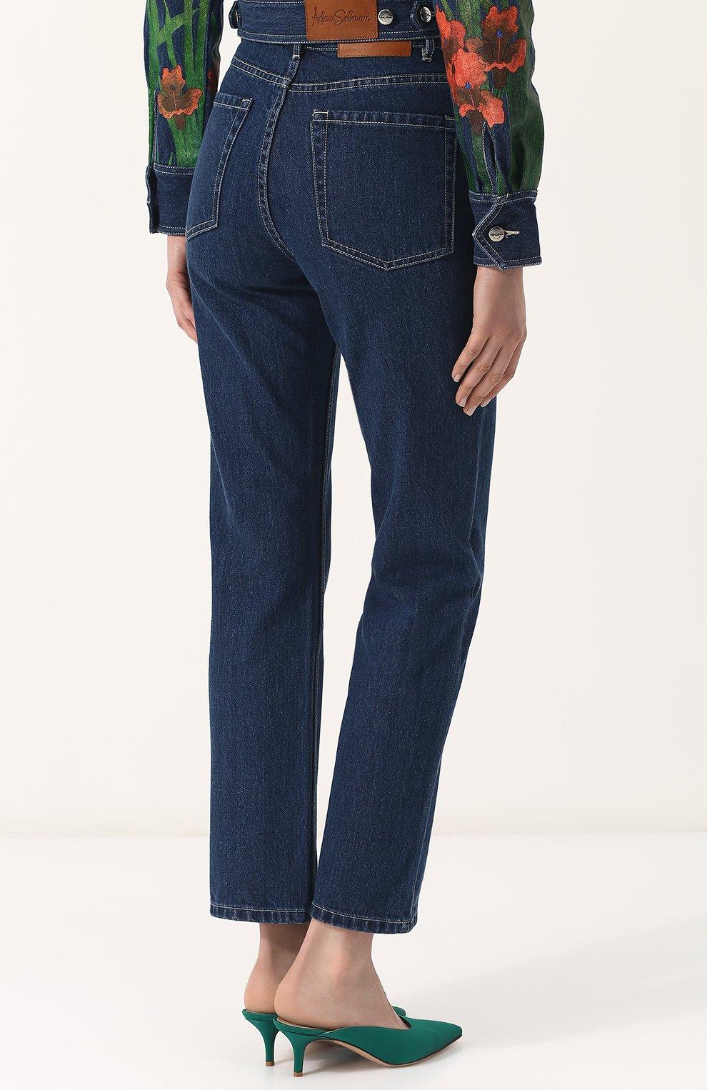 Укороченные джинсы прямого кроя | Фото №4