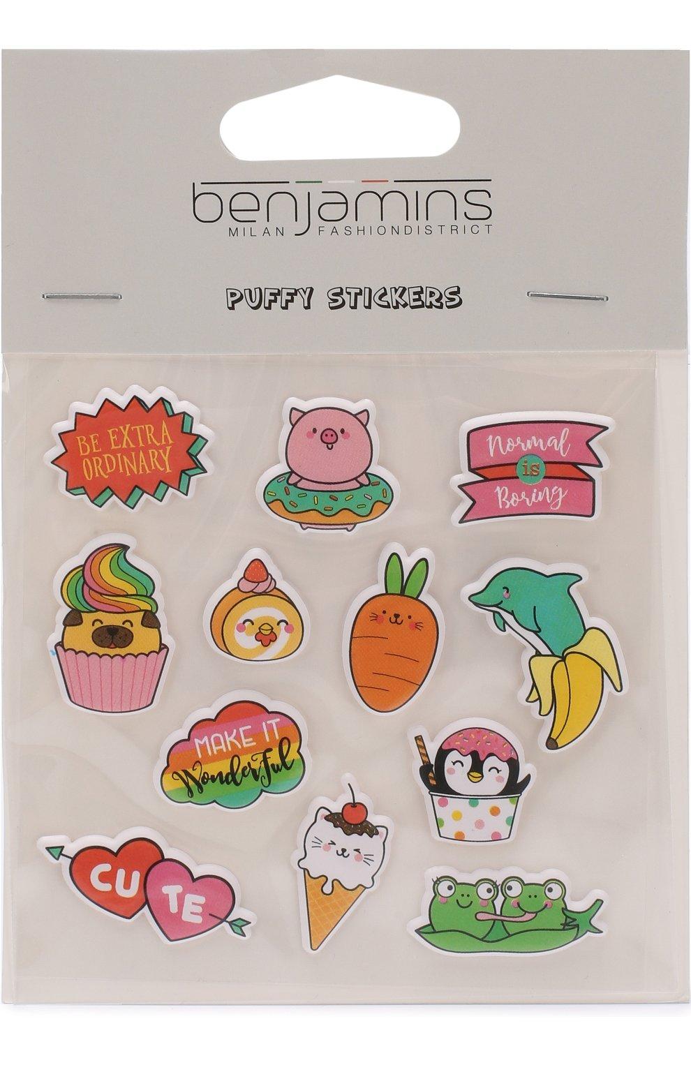Мужского комплект стикеров BENJAMINS разноцветного цвета, арт. BJSTK-ANIMALS | Фото 1