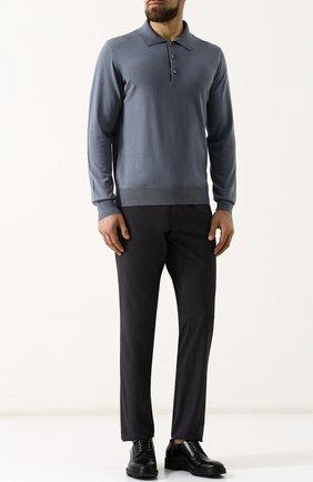 Мужское шерстяное поло  BRIONI голубого цвета, арт. UMR30S/PZK03 | Фото 2