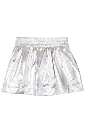 Детская мини-юбка с металлизированной отделкой KENZO серебряного цвета, арт. KL27048/8A-12A   Фото 1