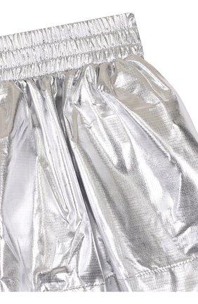Детская мини-юбка с металлизированной отделкой KENZO серебряного цвета, арт. KL27048/8A-12A   Фото 3