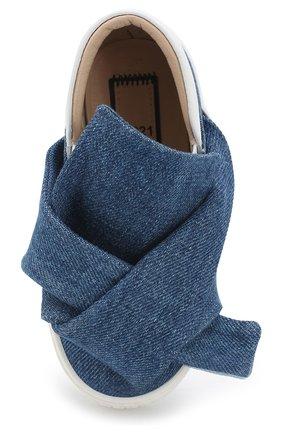 Детские текстильные слипоны с бантами NO. 21 синего цвета, арт. 54634/18-27 | Фото 4