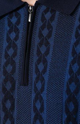 Поло с короткими рукавами из смеси шелка и хлопка | Фото №5