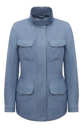 Женская льняная куртка LORO PIANA голубого цвета, арт. FAF6362 | Фото 1