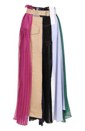 Юбка-макси асимметричного кроя с поясом   Фото №1