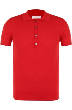 Мужское хлопковое поло с короткими рукавами DANIELE FIESOLI красного цвета, арт. DF 0305/ | Фото 1