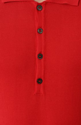 Мужское хлопковое поло с короткими рукавами DANIELE FIESOLI красного цвета, арт. DF 0305/ | Фото 5