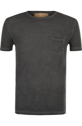 Хлопковая футболка с круглым вырезом Daniele Fiesoli темно-серая | Фото №1