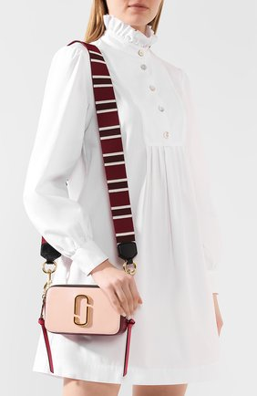 Женская сумка snapshot small MARC JACOBS (THE) светло-розового цвета, арт. M0012007 | Фото 2