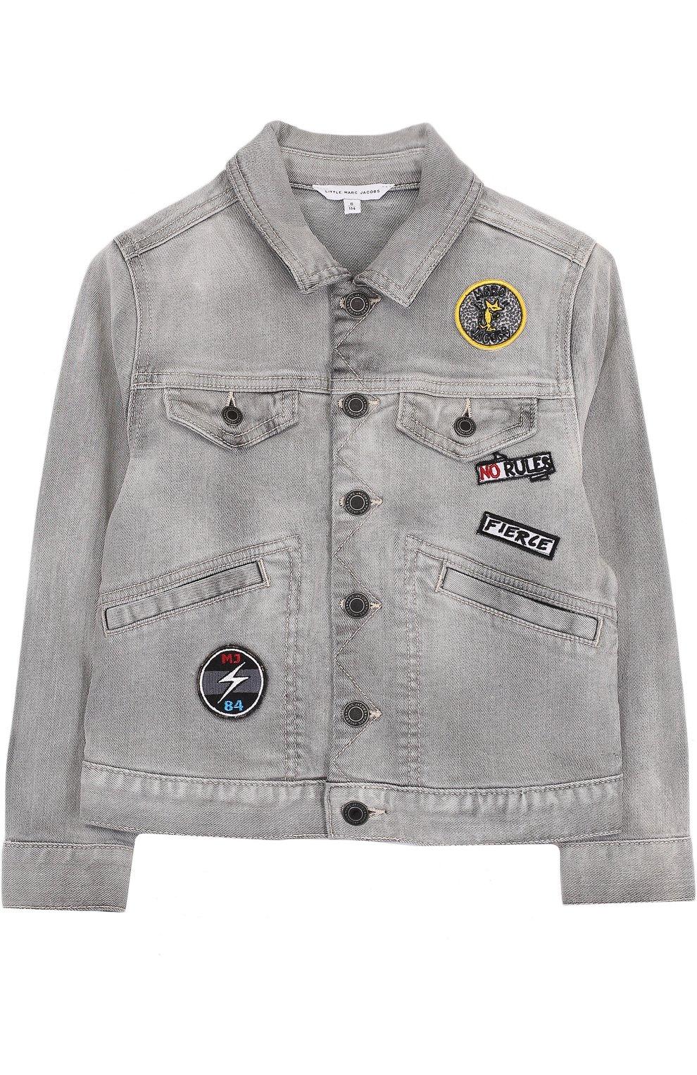 Джинсовая куртка с нашивками   Фото №1