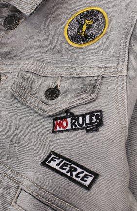 Джинсовая куртка с нашивками   Фото №3