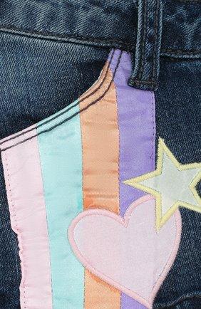 Детские джинсовые шорты с аппликациями MARC JACOBS (THE) синего цвета, арт. W14185/2A-5A | Фото 3