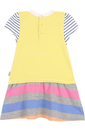 Хлопковое платье с контрастной отделкой | Фото №2