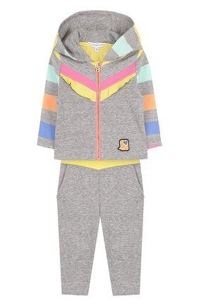 Детский хлопковый костюм из брюк и кардигана MARC JACOBS (THE) разноцветного цвета, арт. W08052   Фото 1