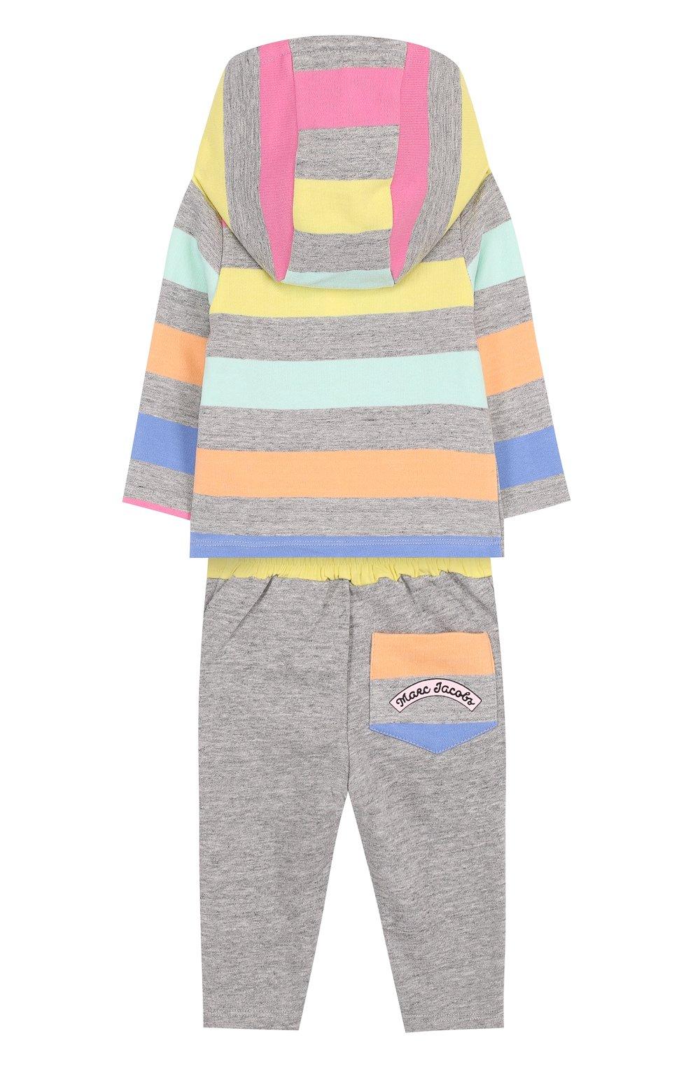 Детский хлопковый костюм из брюк и кардигана MARC JACOBS (THE) разноцветного цвета, арт. W08052   Фото 2