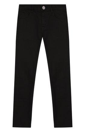 Детские джинсы прямого кроя Karl Lagerfeld Kids черного цвета | Фото №1